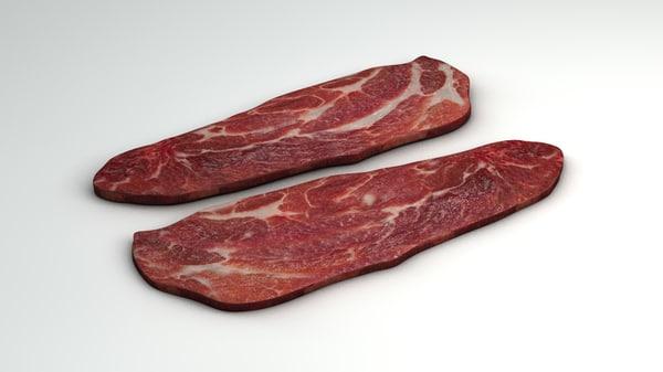 raw steak 3ds