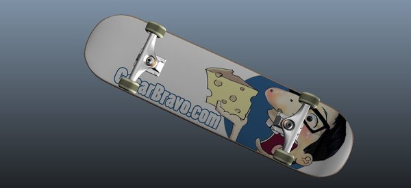 skateboard rig cb 3d model