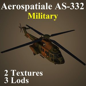aerospatiale military mil helicopter 3d max