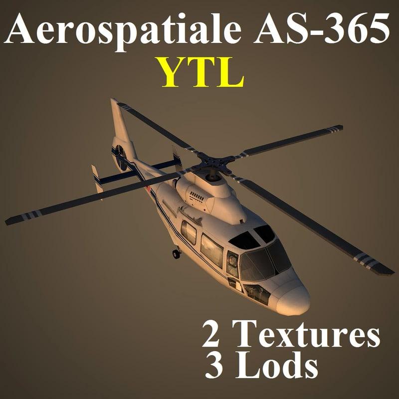 aerospatiale ytl helicopter 3d ma