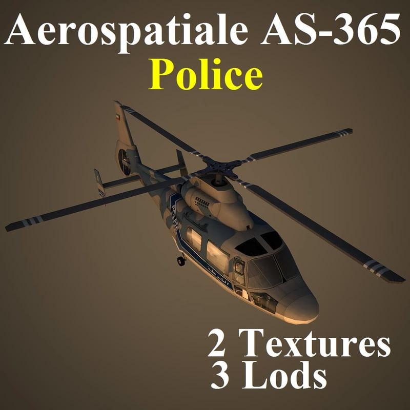 3d model aerospatiale kpl helicopter