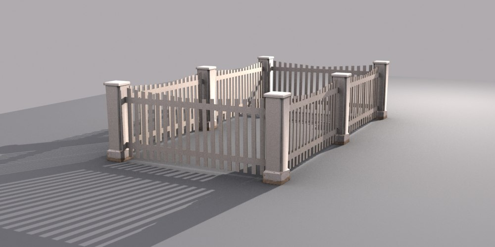 wooden fence max