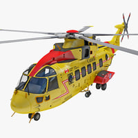 3d rescue helicopter ch-149 cormorant