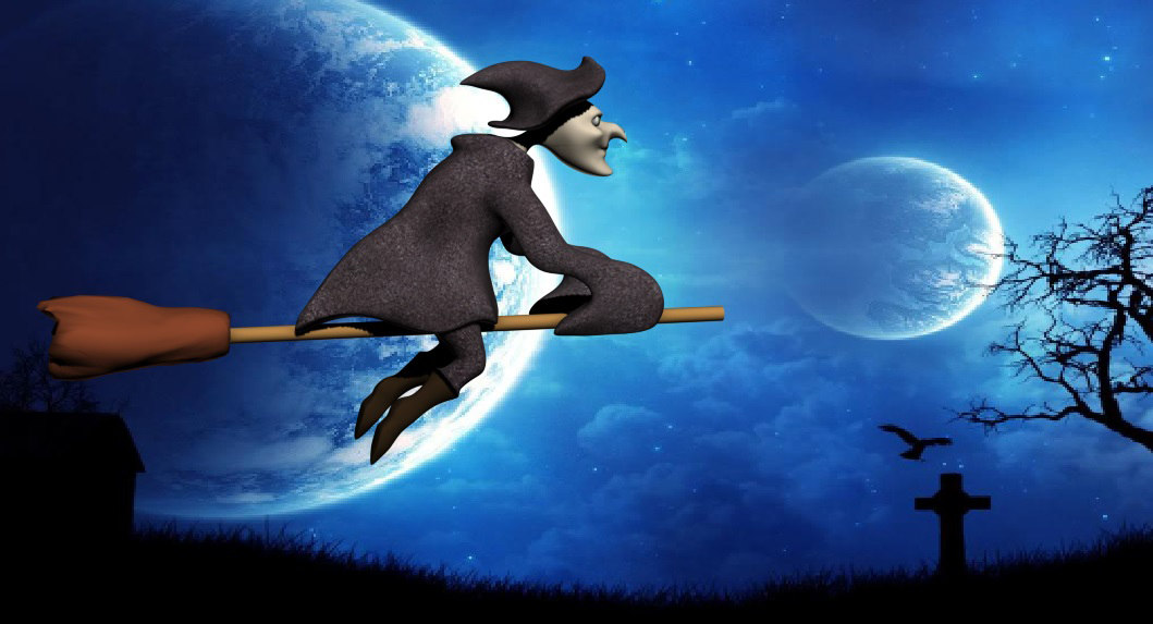 3d witch halloween fantasy model