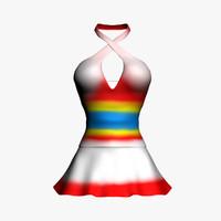 3d women dress model
