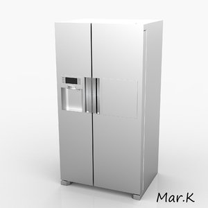 3d c4d fridge samsung