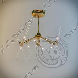 3d lamp odeon light betoni model