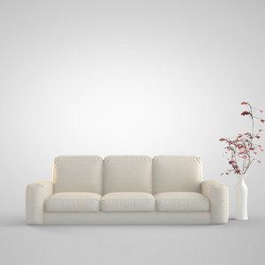 3d model sofa modeled