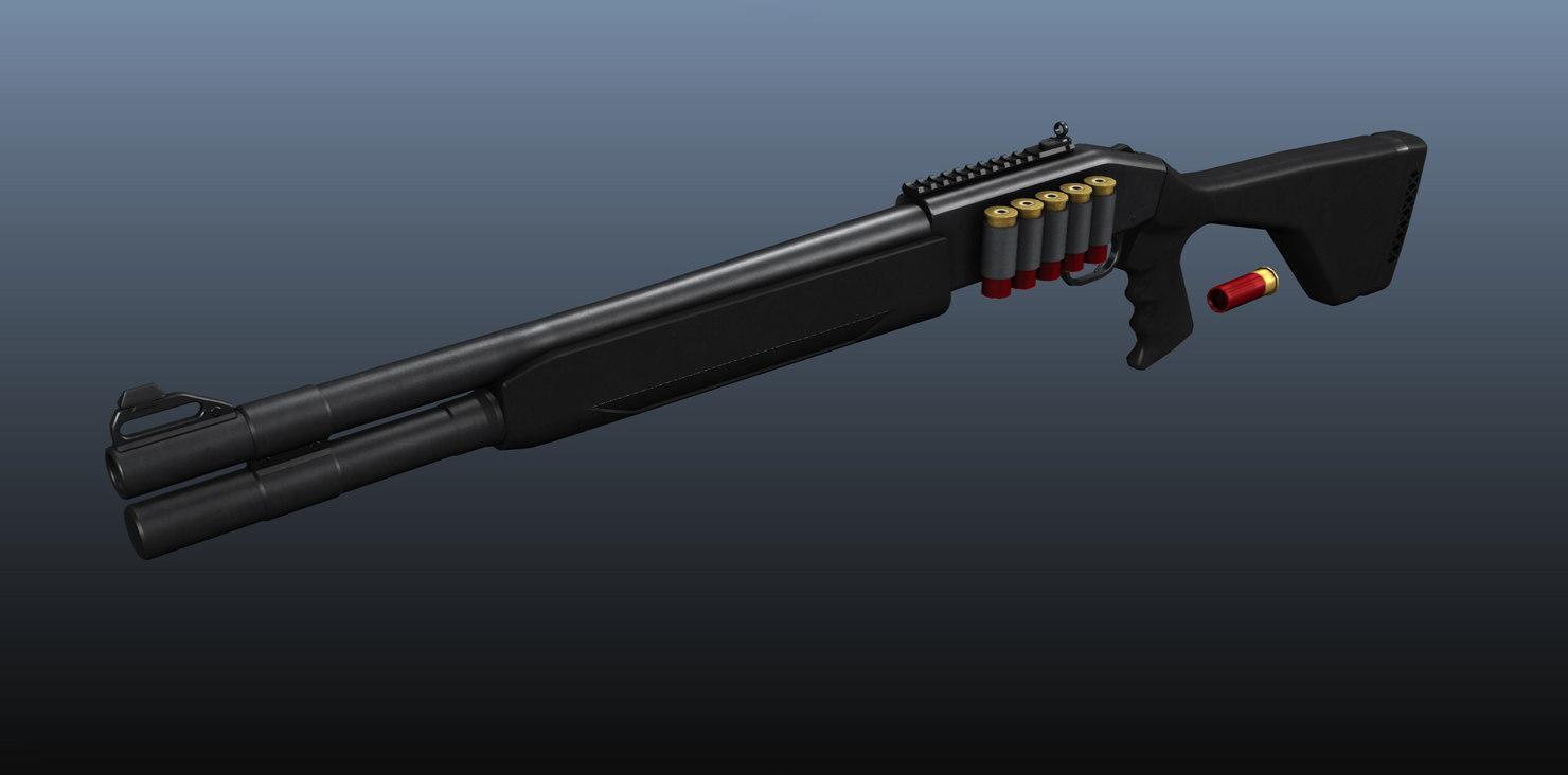 3d model mossberg 930 automatic shotgun