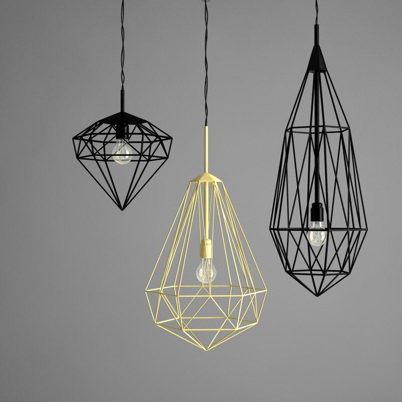 3d model of jspr diamonds light ceiling