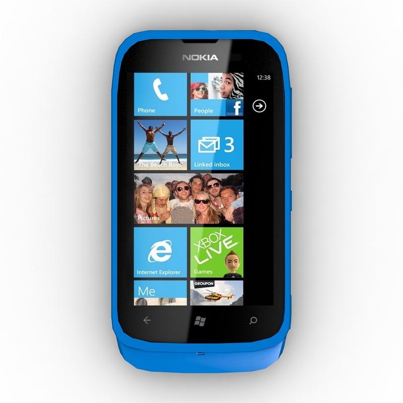 3d model nokia lumia 610