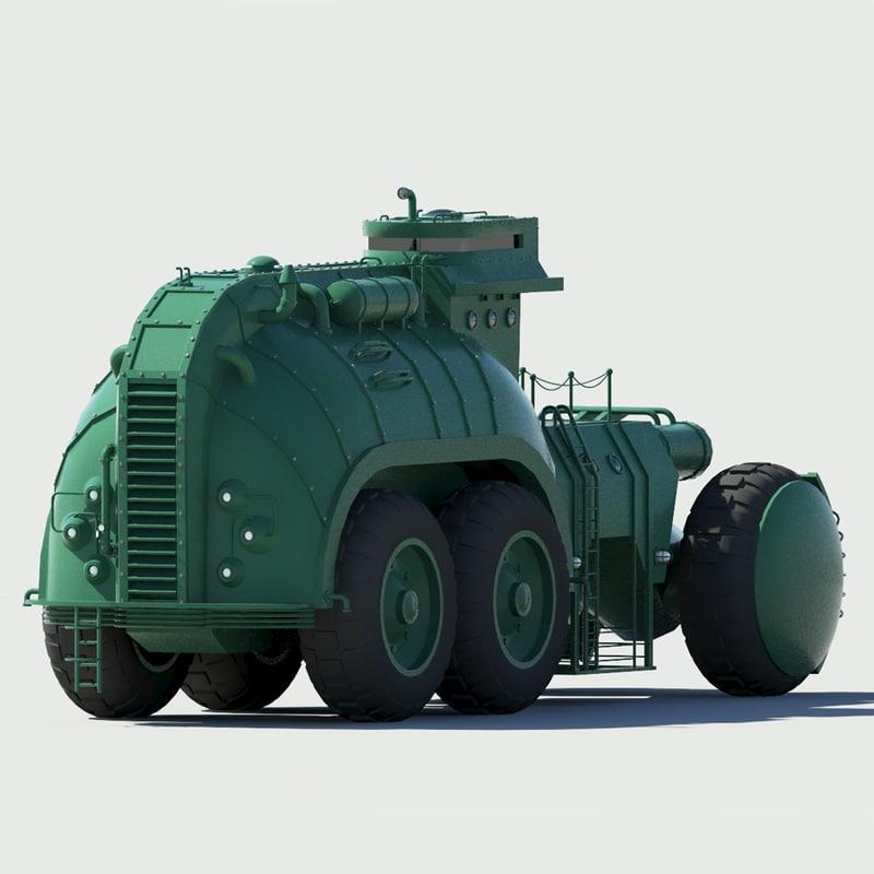 sci fi truck 3d max
