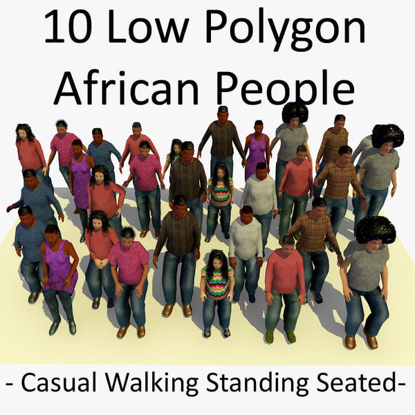 3d model african characters