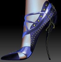 3d model realistic female shoes