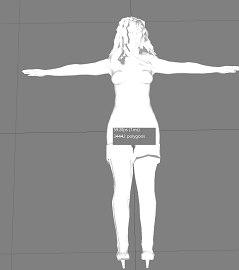 3d adult woman model