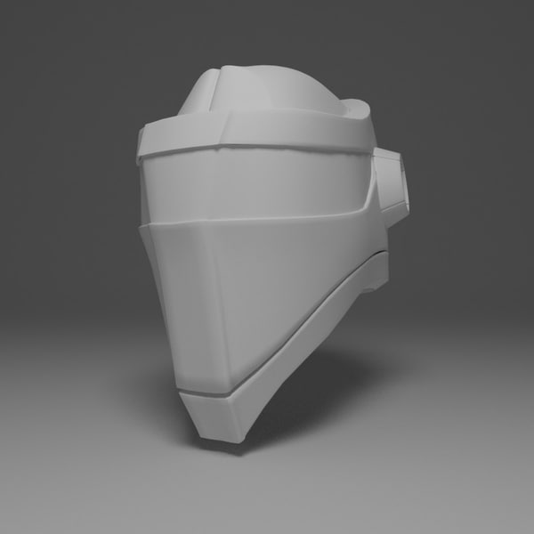 3d sci fi helmet