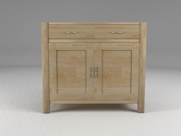 sideboard oak 3d model