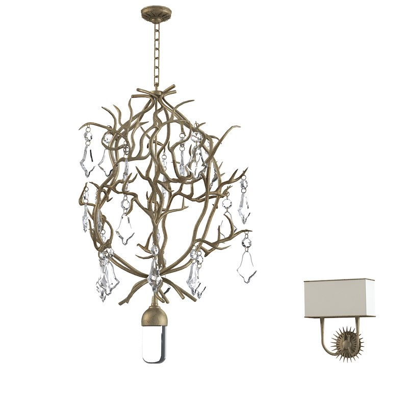 branch chandelier sconce obj