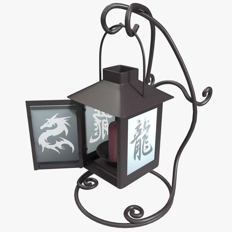 chinese lantern 3d max