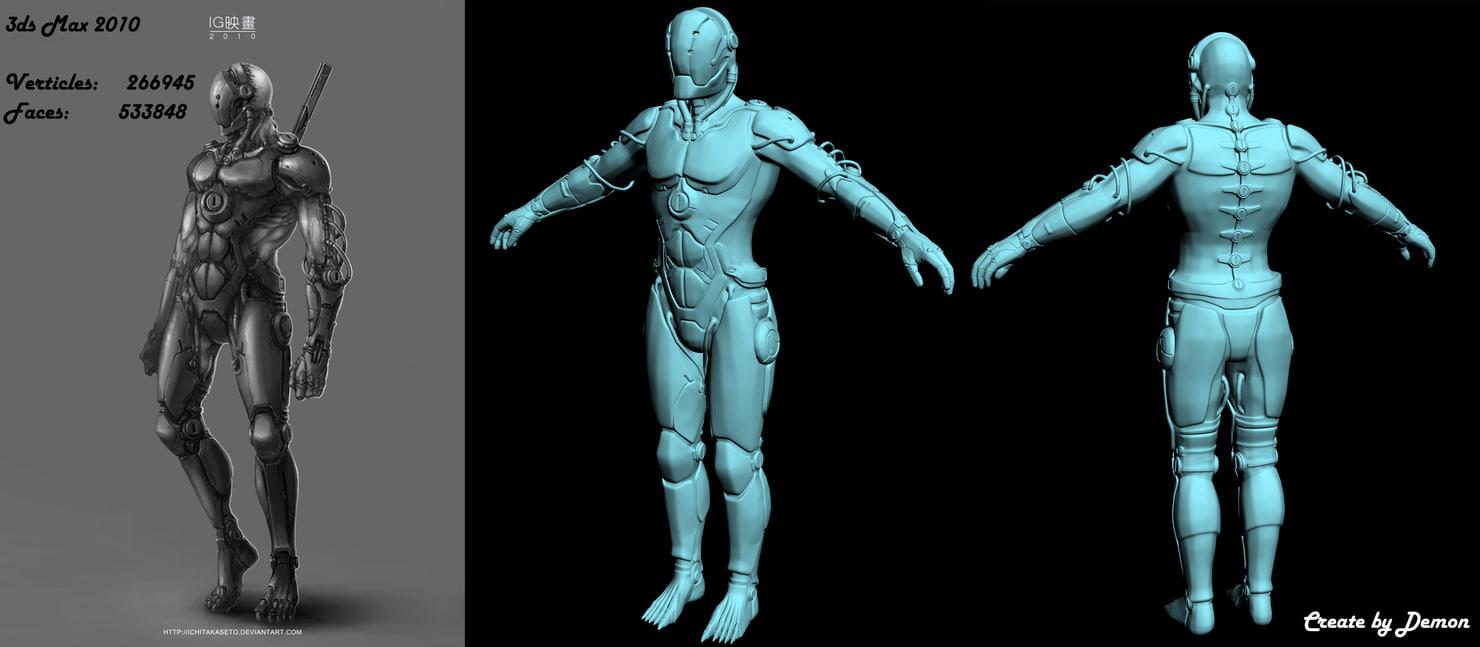 3d cyborg ninja