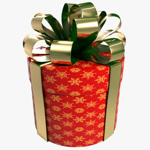 3d cylinder gift box