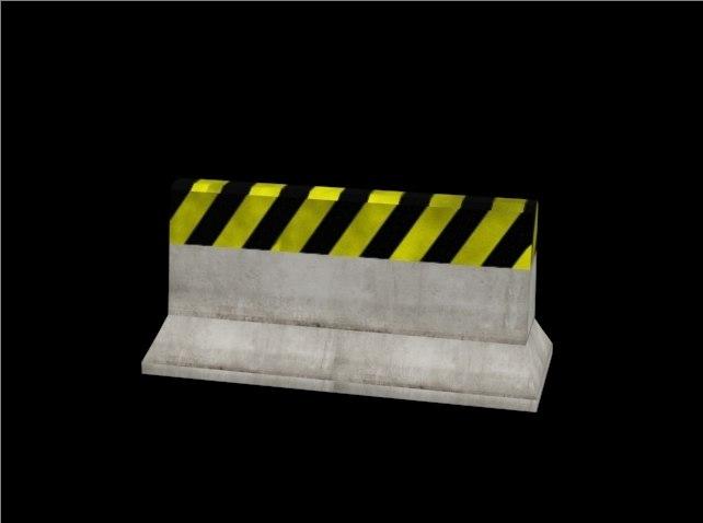 3d roadblock road block model