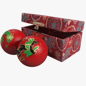 3d model dragon phoenix health balls