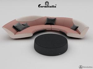 sofa mbs 009 3d max