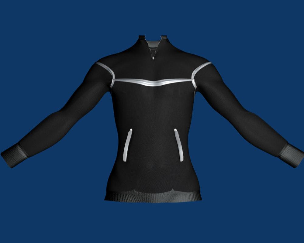 3d male pullover model