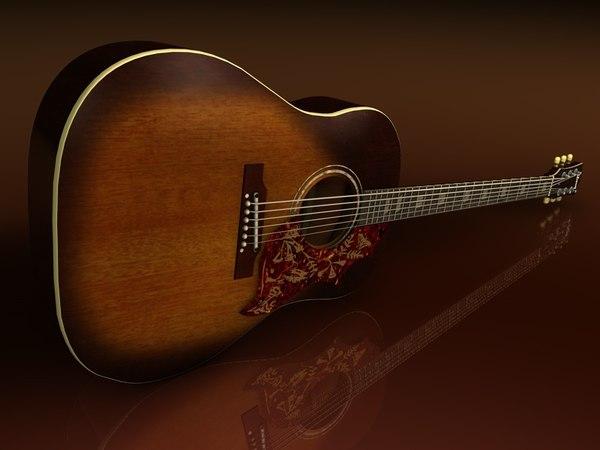 gibson acoustic guitar hummingbird 3d 3ds