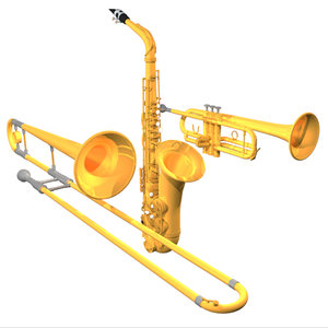 alto saxophone trombone trumpet c4d