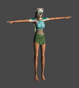 female warrior 3d model