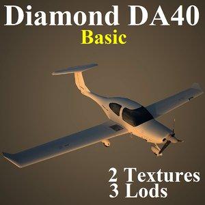 3d diamond da40 basic aircraft