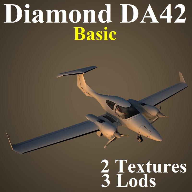 max diamond da42 basic airplane