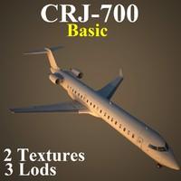 regional jet basic 3d max