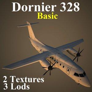 3d model dornier 328 basic