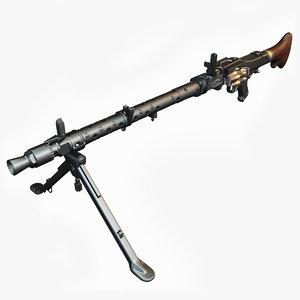 3d maschinengewehr 34 mg weapon model
