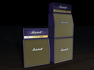 3d model marshall stack purple
