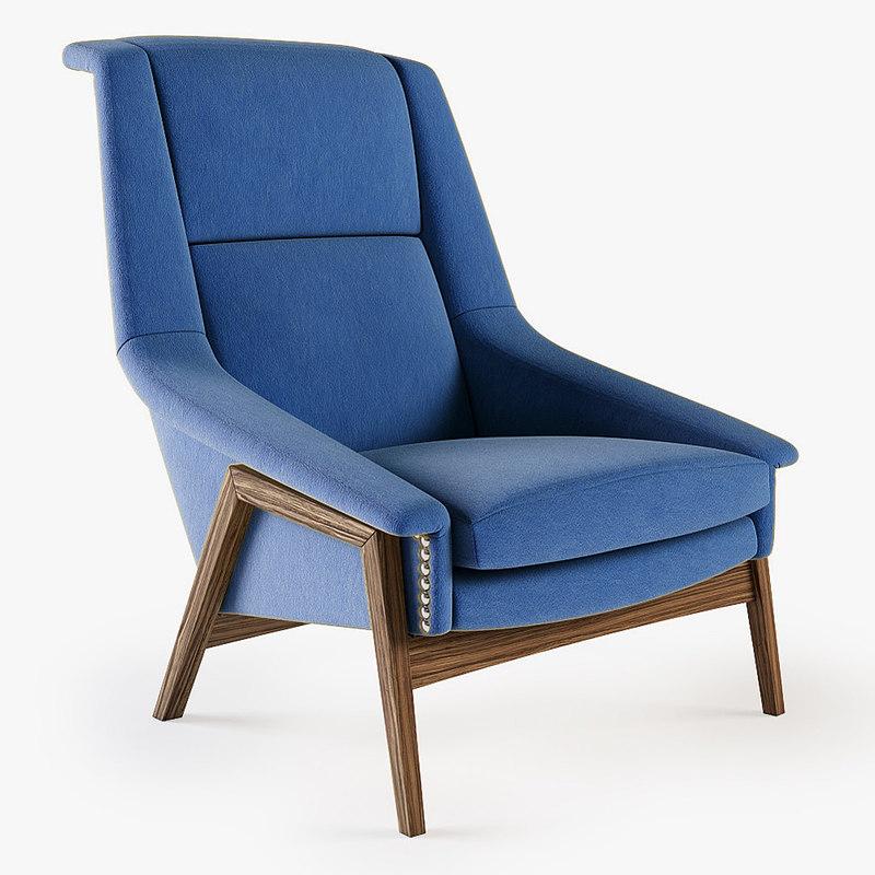 munna - blonde armchair 3d 3ds