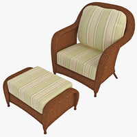 3ds max outdoor rattan armchair chair
