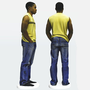 scan african male 3ds