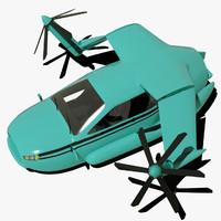 3d model terrafugia tf-x