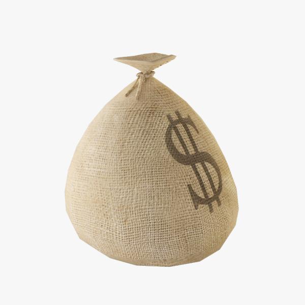 3d model money sack