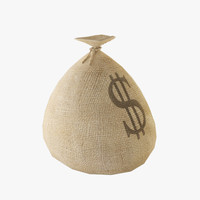 3d model money sack