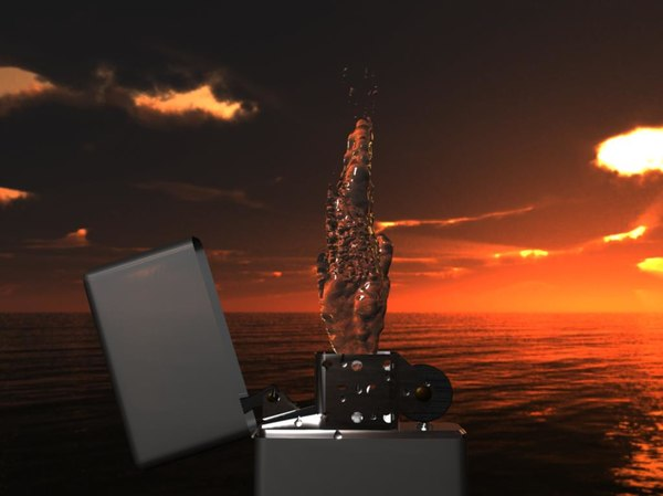 zippo water flame 3d model
