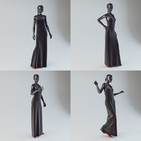 3d showroom mannequin 01 dress model