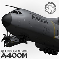 3d model airbus a400m grizzly