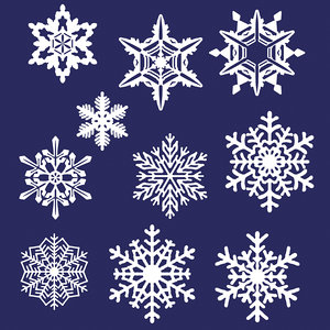 10 snowflakes 3ds