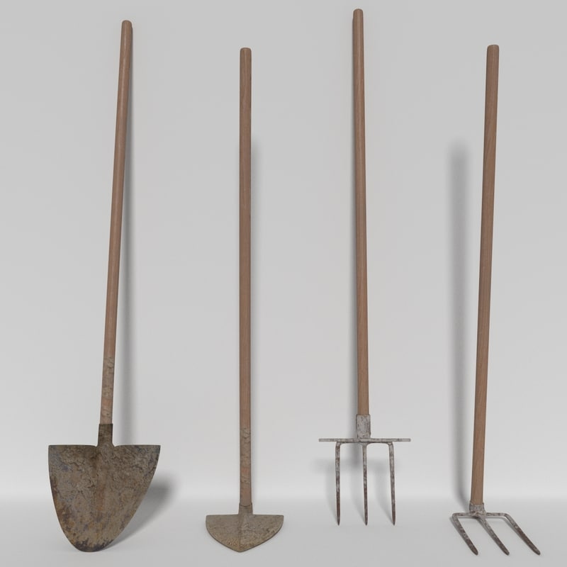 3d model farming tools for Gardening tools 3d model