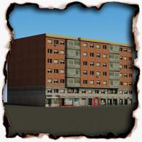 3d building 72 model